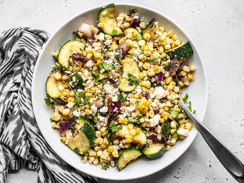 Charred Corn and Zucchini Salad