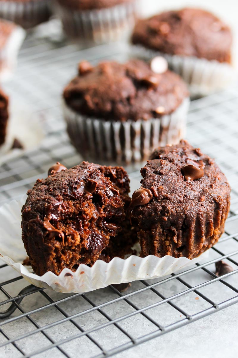 Double Chocolate Beet Muffins